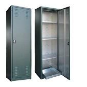 Plasticized zinc cabinets for pesticides