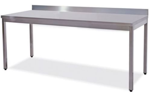Work tables on legs with back splash