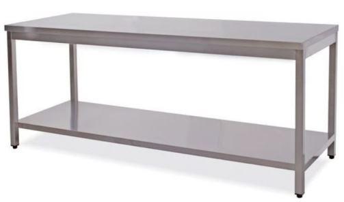 Tables de travail sur pieds avec étagère