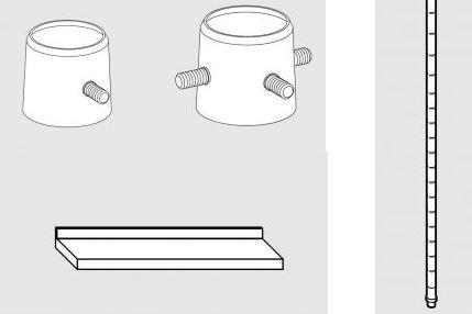 Accesorios para estanterías de acero inoxidable