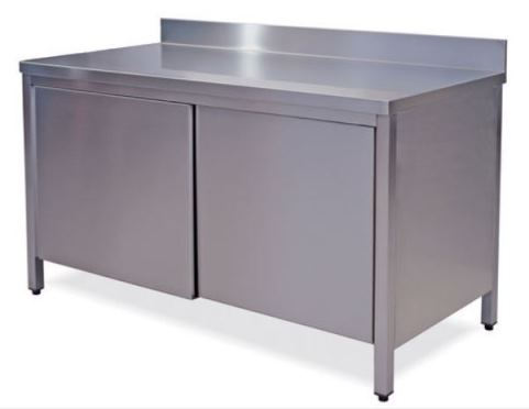 Tables Cabinets with doors on one side with upstand