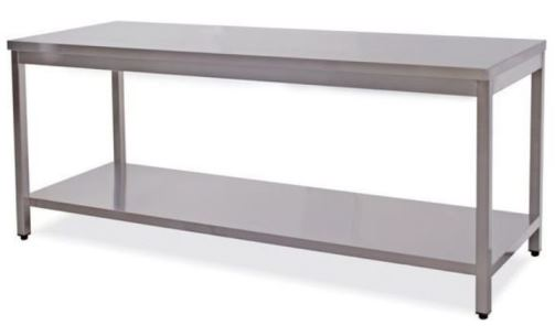 Work tables on legs and shelf