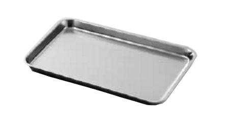 Rectangular trays in stainless steel