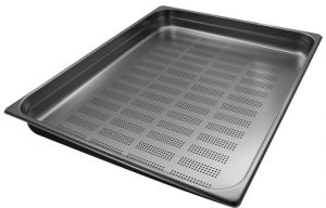 GST2/1P065F Gastronorm Container 2 / 1 h65 perforated stainless steel AISI 304