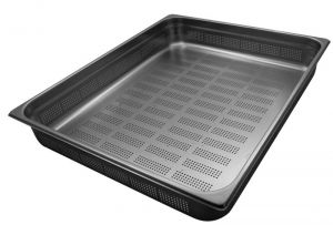 GST2/1P100F Gastronorm Container 2 / 1 h100 perforated stainless steel AISI 304
