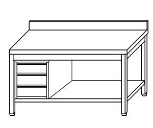 table de travail TL5190 en acier inox AISI 304