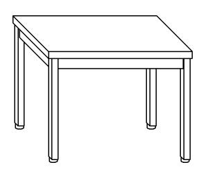 TL5195 Tavolo da lavoro in acciaio inox AISI 304 70x70x85