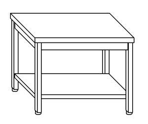 TL5242 Tavolo da lavoro in acciaio inox AISI 304 ripiano 60x70x85