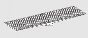 85021.30 Piletta sifonata a pavimento da cm 300x30x12h con filtro e scarico orizzontale frontale