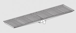 85020.32 Piletta sifonata a pavimento da cm 320x30x12h con filtro e scarico verticale frontale