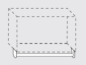66020.10 Portamestoli per pensili senza ganci da cm 100x1.6