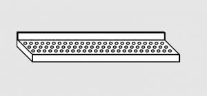 63901.10 Ripiano a parete forato cm 100x38x4h
