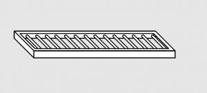 63802.11 Ripiano a parete grigliato cm 110x28x4h