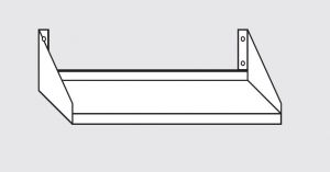 63803.09 Ripiano a parete porta forno cm 90x50x30h