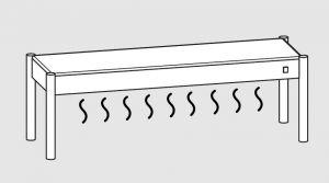 64001.15 Ripiano di appoggio tavoli 1 ripiano caldo cm 150x35x40h
