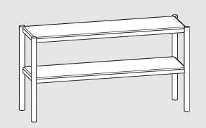64100.15 Ripiano di appoggio tavoli 2 ripiani cm 150x35x70h