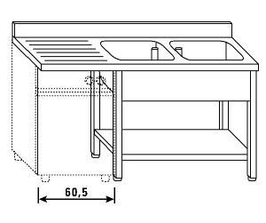LT1215 Wash legs and shelf dishwasher
