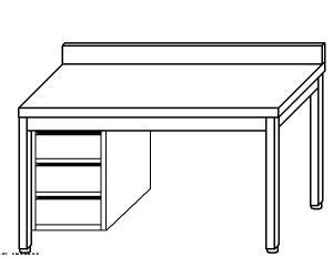 TL5335 mesa de trabajo en acero inoxidable AISI 304