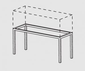 66000.14 Supporto pensile da tavolo cm 140x40x60h