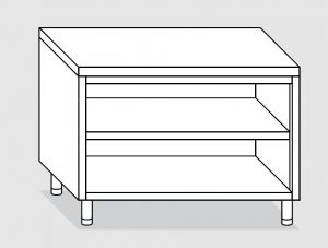 23100.13 Tavolo armadio a giorno agi cm 130x70x85h piano liscio - ripiano intermedio e di fondo