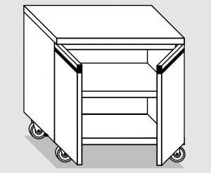 46200.08 Tavolo armadio agi 2 p/battenti ruote cm 80x60x84h