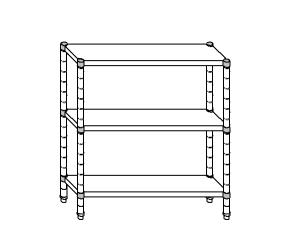 SC8071 shelf aluminized steel 100x40x160 cm