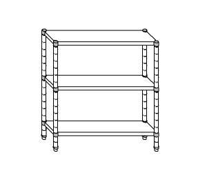 SC8082 shelf aluminized steel 70x50x160 cm