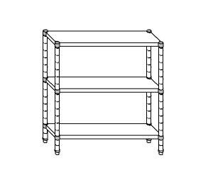 SC8087 shelf aluminized steel 120x50x160 cm
