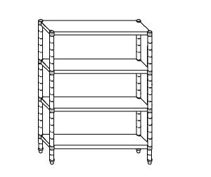 SC8197 shelf aluminized steel 100x50x180 cm