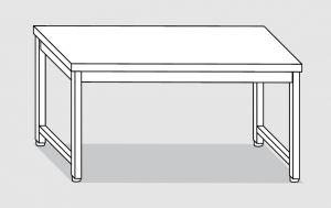 30100.20 Tavolo su 4 gambe past cm 200x90x85h piano liscio-senza ripiano inferiore