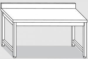 30101.22 Tavolo su 4 gambe past cm 220x90x85h alzatina posteriore-senza ripiano inferiore