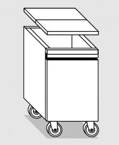 28056.78 Tramoggia carrellata semplice da cm 45x65x76h completa di coperchio
