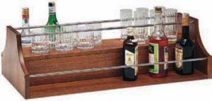A1280 Espositore liquori da appoggio legno noce 88x46x37h