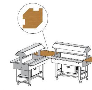 ANUN Mensola legno angolare 88x88