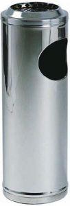 AV4650 Corbeille avec cendrier acier inoxydable Ø20x60h