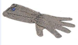 AV4901 Guante de prevención de accidentes de acero inoxidable con cinco dedos largos