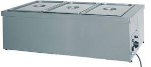 BMS1785 Tavola calda banco resistenza a secco inox 3x1/1GN 110x60x32h