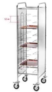 CA1455PI Universal tray holder for 10 trays Stainless steel side panels