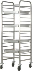 CA1486R Stainless steel Reinforced GN pan trolley 14GN2/1 28GN1/1