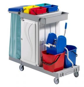 CA1616 Multi-purpose plastic trolley for cleaning 133x68x124h