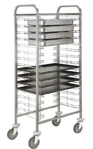 CA1655 Stainless steel tray-holder trolley 10 pans GN 1/1 h65 or 10 trays 60x40