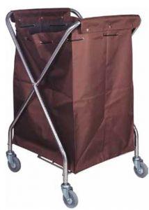 CA3203 Carro de lavandería plegable con tela y ruedas