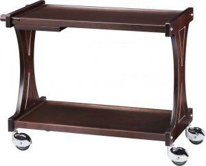 CL2001W Carrello servizio legno Wenge 2 piani 106x55x85h