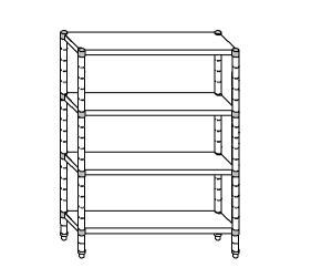 SC8202 shelf aluminized steel 150x50x180 cm