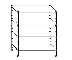 SC8295 shelf aluminized steel 100x40x200 cm