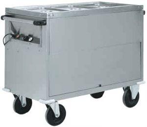 CT1766 Carrello termico bagnomaria Inox AISI 304 armadiato 2x1/1GN 96x68x92h