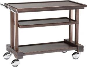LP850W Carrello servizio legno massello Wenge 3 piani 81x55x82h