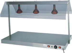 PCI4713 Piano caldo acciaio inox 3 lampade infrarossi 127x68x80h
