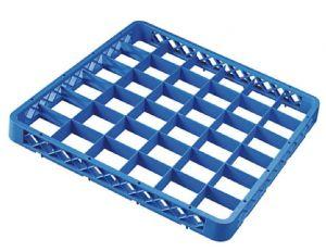 RIA36 Elévation 36 compartiments pour panier lave-vaisselle 50x50 h4,5 bleue