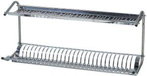SPB1398 Scola piatti/bicchieri da muro acciaio inox 80x26x37